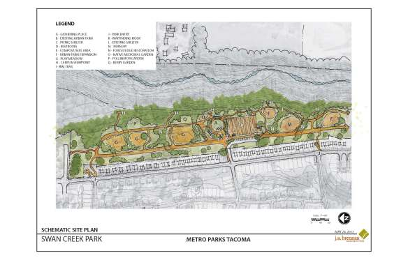 J.A. Brennan completed schematic design for Swan Creek Park Phase 1.